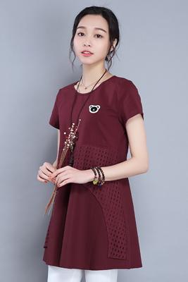 9971连衣裙暗红色
