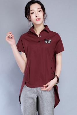 9961衬衫暗红色