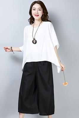 001白色+黑色套装