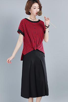 9105红色上衣+黑色裤