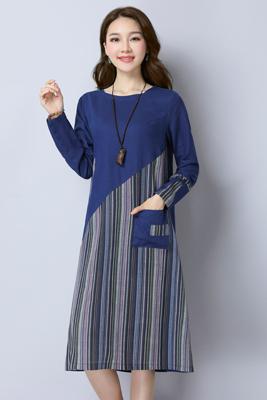 7320连衣裙藏青色