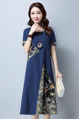 0952连衣裙藏青色