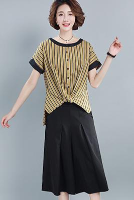 9105黄色上衣+黑色裤