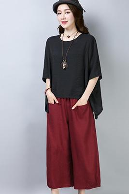 001黑色+枣红套装