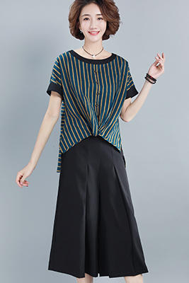9105墨绿色上衣+黑色裤